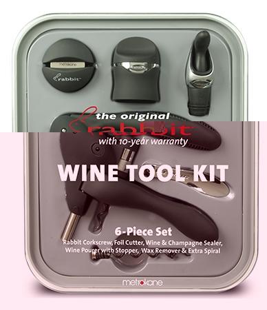 Set 6 accesorii pentru vin RABBIT